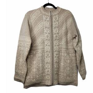 Pendleton Glacier Peak Lambswool full zip sweater
